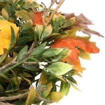 Høstkrans kunstig grønn, gul, oransje Ø45cm