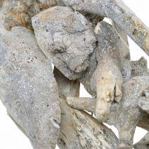 Kransrot tregrå naturlig dekorasjonsrotkrans Ø40cm H9cm