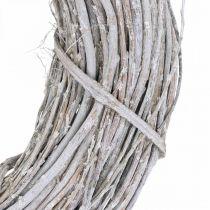 Deco krans hvitkalket Ø35cm Shabby Chic dørkransborddekorasjon