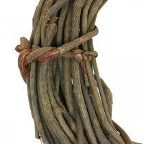 Dekorativ krans av grener naturlig Ø40cm naturlig krans