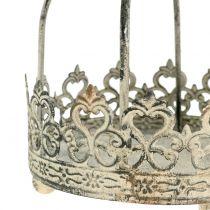 Krone for å henge antikk krem Ø10,5cm