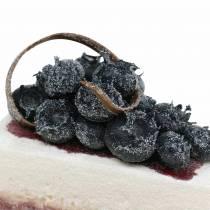 Pai stykke blåbær kunstig 10cm