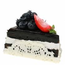 Kunstig sjokoladekakestykke 10cm
