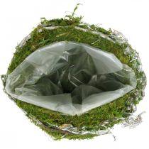 Gravdekorasjon kulranker mosegrønn, hvitvasket Ø20cm