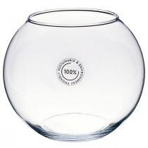 Kulevase, fiskebolle, glasslykt, dekorativt glass Ø18,5cm H16cm