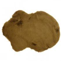 Pelsteppe deco brun Kunstig pelsteppe 55 × 38cm