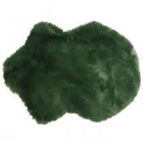 Dekorativt pelsteppe grønn fuskepels 55 × 38cm