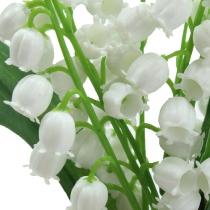 Kunstig liljekonvall hvit 25cm 3stk
