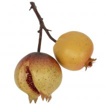 Kunstig frukt granateple med frø Ø6cm - Ø7cm L18cm