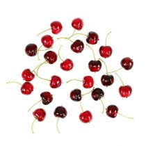 Kunstig frukt søte kirsebær blanding Ø2,5cm 24stk