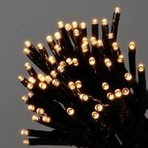 LED-kjede av lys 144 svart, varmhvit for utsiden 1,2m