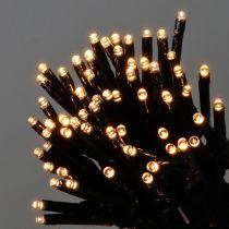 LED-kjede med lys svart, varmhvit 448 for utvendig 3m