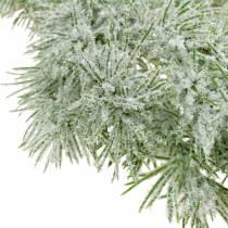 Lerkekrans med glitter og snø 160cm