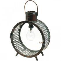 Solar lampe metall lampe balkong deco industriell design Ø23cm