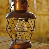 Sollykt, LED-hengelampe industrielt utseende Ø16cm H32cm