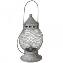 Metalllykt, LED-lampe, Shabby Chic Ø16cm H33,5cm