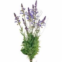 Kunstig lavendelbukett, dekorativ lavendelfiolett, silkeblomster