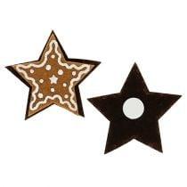 Pepperkaker stjerner 4,5 cm for å feste 12 stk