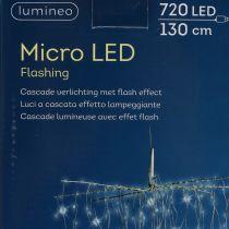Lys kaskade Micro-LED kjølig hvit 720 H130cm