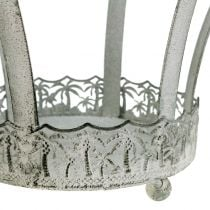 Metallkrone til dekorasjon Ø20,5cm H26cm