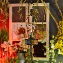 LED-lanterne, dekorativ lampe, antikt utseende, Ø16cm H43cm