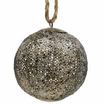 Metallkule antikk for henging Ø13,5cm