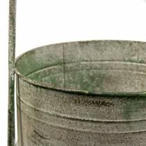 Metallstativ med planter, grå, grønn H68cm