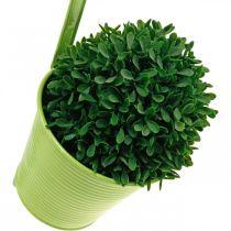 Plantegryte å henge, balkongpynt, blomsterpotte grønn Ø13,5cm