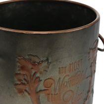 Metallgryte med lokk Ø17,5cm H20,5cm