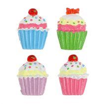 Mini cupcakes farget 2,5cm 60stk