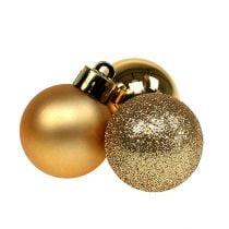 Mini julekule gull Ø3cm 14stk