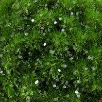 Mosekule med glimmer Ø9cm grønn