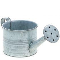 Planter vannkanne galvanisert grå, vasket hvit H10cm
