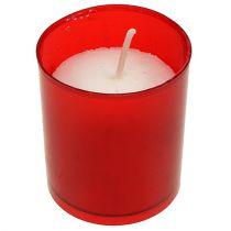 Påfyll stearinlys til gravlys påfyll innsats grav lys rød 20stk