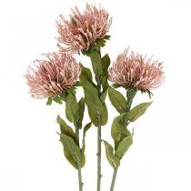 Høstblomstnålpute kunstig Protea Rosa Leucospermum 73cm 3stk