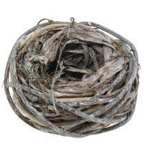 Påskekurv laget av kvister, naturlig, vasket hvit Ø13cm 3stk