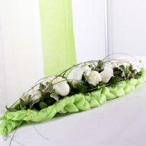 Blomsterskum murstein borddekorasjon grønn 22cm x 7cm x 5cm 10stk