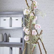 Blomsterskumkule tørr pasta grå Ø16cm 2stk