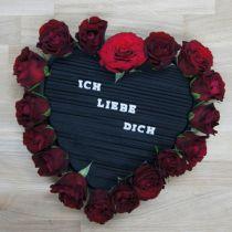 Plug-in materiale hjerteblomstret skum svart 33cm 2stk bryllupsdekorasjon