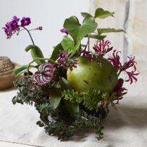 Sylinderplugg med blomster skum størrelse Ø15cm H5cm 2stk