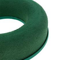 Floral skumring kransgrønn H4,5cm Ø17cm 6stk