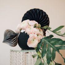 Blomsterskumkule, svart Ø20cm
