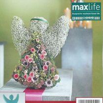 Blomstret skumengel med oppstandsmål 45cm x 34cm