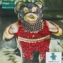 Blomsterskumfigur bamse med stativ 48,5cm x 42cm H5cm 1p
