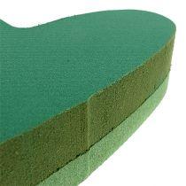 Pluggstørrelse hjerteblomstret skumgrønt 24cm x 25cm 2stk