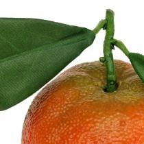 Oransje med blad 7cm 4stk