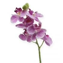 Orkide med glitter, rosa 35cm