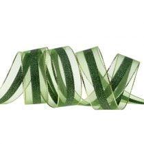 Organzabånd med stripete mønster 25mm 20m
