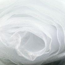 Dekorativt stoff organza hvitt 150cm x 300cm