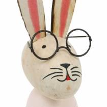 Påskedekorasjon, kanin med briller, vårdekorasjon, metallkanin, borddekorasjon